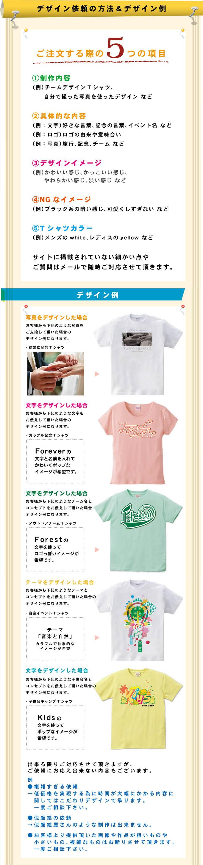 オリジナルTシャツ5つのポイントとデザイン例